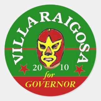 2010 Villaraigosa Mascaras Round Stickers