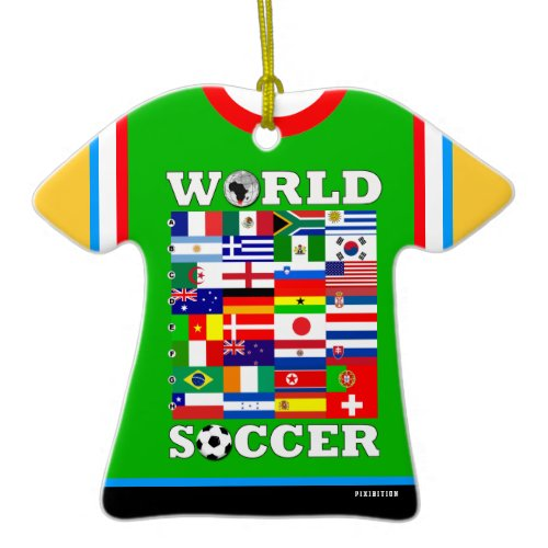 2010 World Cup Soccer Flags Ornament ornament