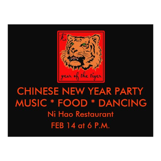 2010 Year of the Tiger Chinese New Year Flyer