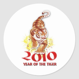 2010 Year of the Tiger Gifts Classic Round Sticker