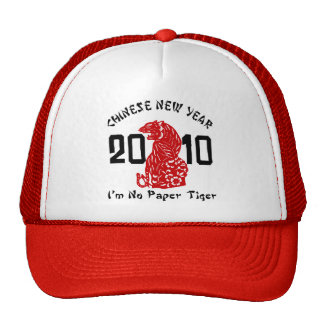 2010 Year of The Tiger Paper Cut Trucker Hat