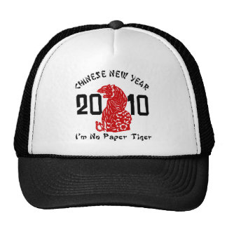 2010 Year of The Tiger Paper Cut Trucker Hats