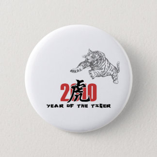 2010 Year of The Tiger Pinback Button