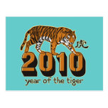 2010 Year of The Tiger Post Card