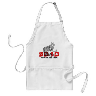 2010 Year of The Tiger Symbol Adult Apron