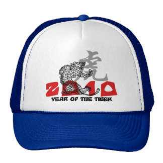 2010 Year of The Tiger Symbol Trucker Hats