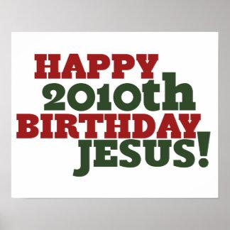 2010o cumpleaños feliz Jesús Póster