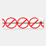 20110 NO DISCRIMINATION EQUALITY INTERRACIAL RELAT CAR BUMPER STICKER