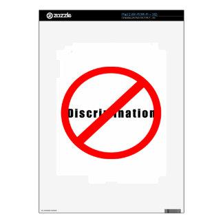 20110 NO DISCRIMINATION EQUALITY INTERRACIAL RELAT iPad 2 SKIN
