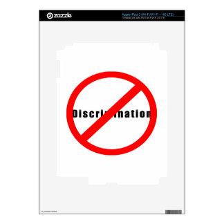 20110 NO DISCRIMINATION EQUALITY INTERRACIAL RELAT SKINS FOR iPad 3