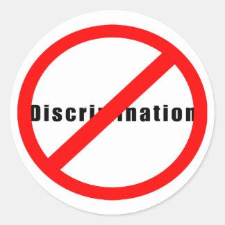 20110 NO DISCRIMINATION EQUALITY INTERRACIAL RELAT ROUND STICKER