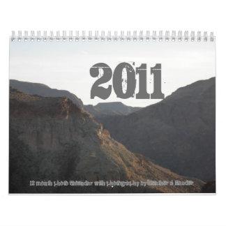 2011, 12 month photo calendar