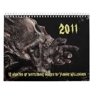 2011, 12 Months of disturbing images by Y... Calendar
