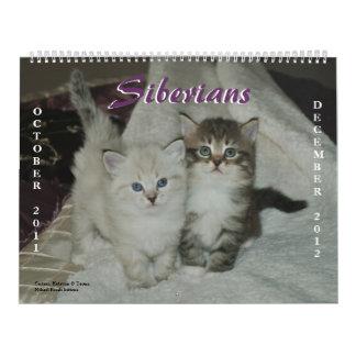 2011-2012 Siberian Cats Calendar