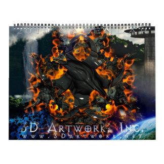 2011 3D Artwork Calendar