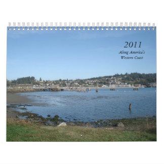 2011, a lo largo de la costa occidental de América Calendarios