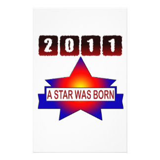 2011 A Star Was Born Personalized Stationery