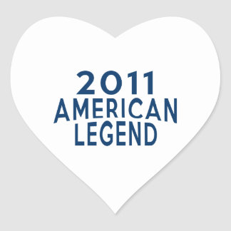 2011 American Legend Birthday Designs Heart Sticker