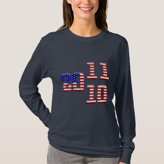 2011 american USA flag New Year's party T-Shirt