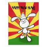2011: Año del conejo: ¡Balanza de Mochi! Tarjeta De Felicitación