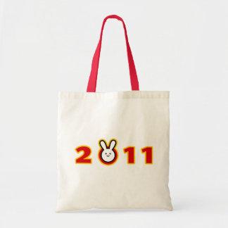 2011: Año del conejo Bolsas Lienzo