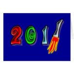 2011 año nuevo Year new Tarjeta De Felicitación