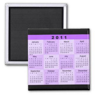2011 años de un vistazo hacen calendarios iman de nevera