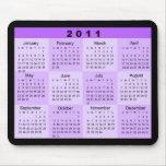 2011 años de un vistazo hacen calendarios tapete de ratones