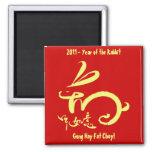 2011 años del Año Nuevo chino del conejo Imán Para Frigorífico