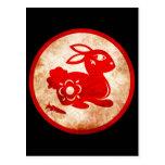 2011 años del diseño chino de la astrología del co tarjetas postales