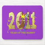 2011 años del regalo de los Años Nuevos del conejo Tapetes De Ratón