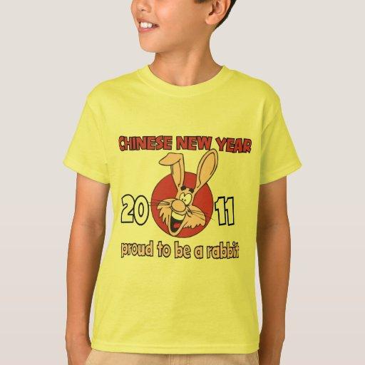 2011 Años Nuevos chinos de la camiseta del conejo