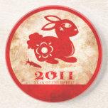 2011 Años Nuevos chinos del conejo Posavasos Manualidades