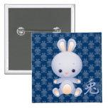 2011 Años Nuevos del botón del conejo Pins