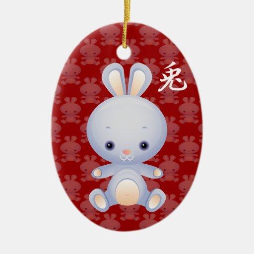2011 Años Nuevos del ornamento del conejo Adorno Para Reyes