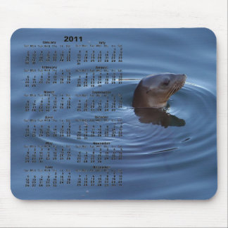 2011 Baby Seal Calendar Mousepad