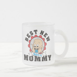2011 Best New Mommy Frosted Glass Coffee Mug