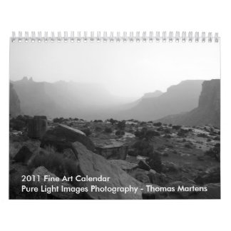 2011 Black and White Mountains, Deserts and Lakes Calendar