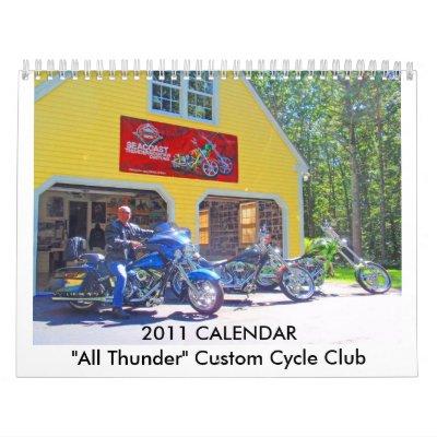 """2011 CALENDAR """"All Thunder"""" Custom Cyc..."""