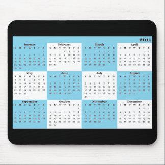 2011 calendar blue Mousepad