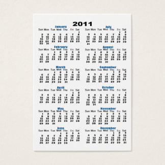 2011 Calendar Business Card