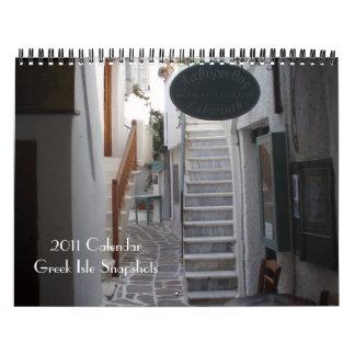 2011 Calendar Greek Isle Snapshots