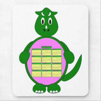 2011 Calendar Green Dinosaur Mousepad