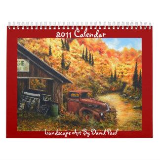 2011 Calendar Landscape Art by David Paul