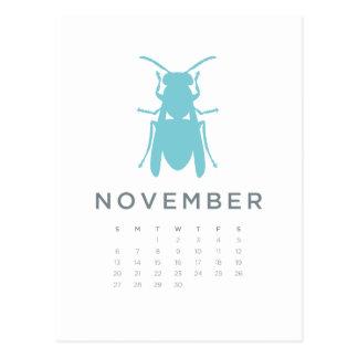 2011 calendar - Nov Postcard