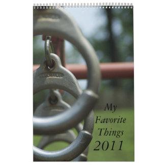 2011 Calendar of My Favorite Things