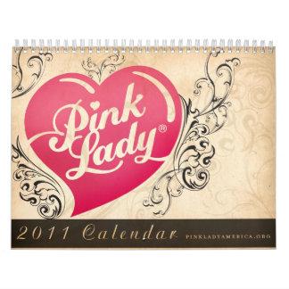 2011 calendario de señora rosada Américas