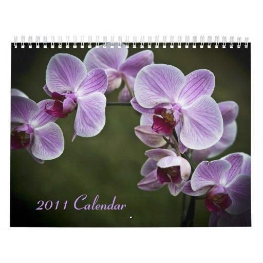 2011 calendario - flores