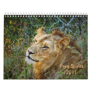 2011 calendarios - espíritus libres