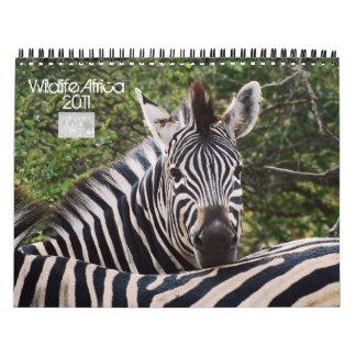 2011 calendarios - fauna África - tamaño estándar